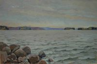 Syksyinen ranta (Lohjanjärvi) 40x60cm