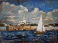 Kauppatori mereltäpäin (Helsinki) 45x60cm