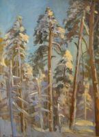 Luminen metsä 2007, 63x52cm