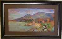 Rannikkoa Italiassa (Rapallo) 2004, 28x55cm