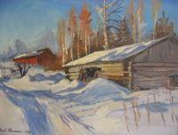 Kylmä talvipäivä 1999, 50x65cm